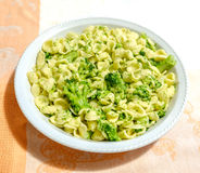 Orecchiette Cime di Rapa traditional pasta broccoli recipe Royalty Free Stock Photos