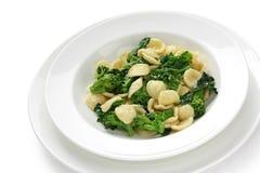Orecchiette con le cime di rapa , italian pasta Royalty Free Stock Photo