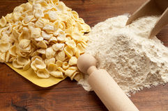 Orecchiette pasta homemade Royalty Free Stock Images