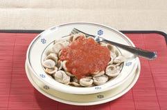 Orecchiette pasta with tomato sauce Royalty Free Stock Photos
