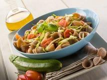 Orecchiette with slice zucchinis Stock Photo