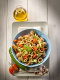 Orecchiette with slice zucchinis Royalty Free Stock Images
