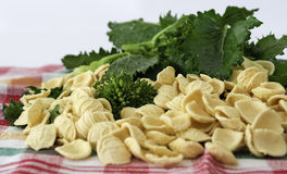 Orecchiette and turnip greens Royalty Free Stock Images