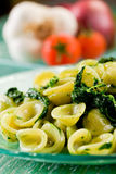 Orecchiette with Turnip tops Royalty Free Stock Photo