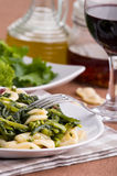 Orecchiette with turnip tops. Royalty Free Stock Image