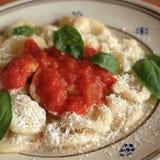 Orecchiette z pomidorowym kumberlandem obraz stock