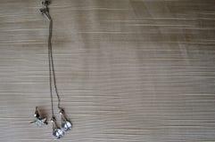 Orecchini d'argento con i diamanti, pietre preziose, cristalli di rocca immagine stock