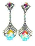 Orecchini dei gioielli con i cristalli luminosi Immagine Stock