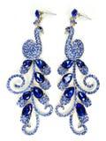 Orecchini dei gioielli con i cristalli luminosi Immagini Stock