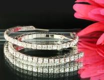 Orecchini del diamante Fotografia Stock Libera da Diritti