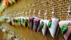 Orecchini del dolce Fotografia Stock