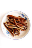Orecchio del maiale brasato Immagini Stock Libere da Diritti