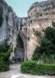 Orecchio Di Dionisio Latomia del Paradiso Συρακούσες, Σικελία, Ιταλία στοκ φωτογραφία