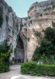 Orecchiodi Dionisio Latomia del Paradiso Syracuse, Sicilië, Italië Stock Fotografie