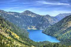 Oredon Lake - Pyrenees Mountains Stock Image