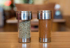 Oregano and cayenne pepper royalty free stock photography