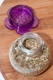 Oregano in a glass bowl Royalty Free Stock Images