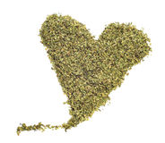 Oregano heart Stock Photo