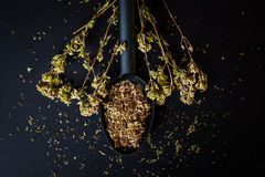 Oregano stalk and  crumbled dried oregano Stock Photography