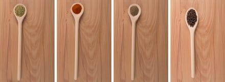 oreganopaprikapeppar kärnar ur kryddor Royaltyfria Bilder
