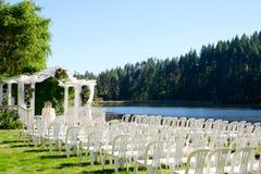 Oregon Ślubny miejsce wydarzenia jeziorem obrazy royalty free