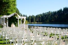Oregon Ślubny miejsce wydarzenia jeziorem fotografia stock
