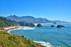 Oregon armaty na plaży Obrazy Royalty Free
