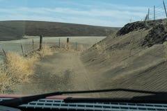 Oregon avdelningskontorbrand - erosionbekymmer arkivfoton