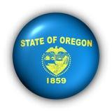 Oregon bandery guzik rundę stanu usa ilustracja wektor