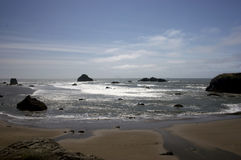 Oregon Beach. Beach with rocks on Oregon coast royalty free stock images