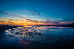 Oregon Beach Sunset in Lincoln City Royalty Free Stock Image