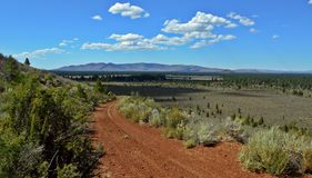 Oregon Big Sky. View from Plot Butte - Pine Mountain in the distance - central Oregon stock photos