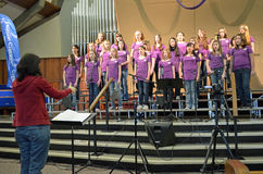 Oregon Children's Choir Girl's Choir stock photography