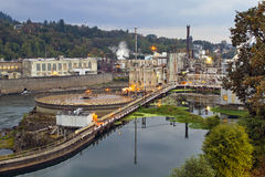 Oregon City Electricity Power Plant Royalty Free Stock Images