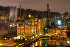 Oregon City Electricity Power Plant at Night Royalty Free Stock Images