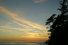 Oregon coast 1-4. View of the central Oregon coast stock photos