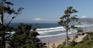 Oregon Coast. Overlooking ocean waves on the Oregon Coast Royalty Free Stock Photo