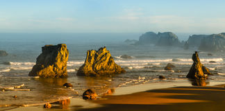 Oregon Coast, Bandon. Oregon Coast at Bandon with rock formations is very popular with tourists Royalty Free Stock Image