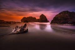 Oregon Coast Beach at night near highway 101 Royalty Free Stock Photography