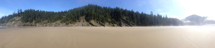Oregon Coast beach. Beach on the oregon coast which you have to walk to in order to get there Stock Photography