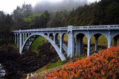 Oregon Coast Bridge stock images