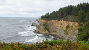 Oregon coast cliff. View of coastal cliff in Oregon USA, off US 101 Pacific Coast Scenic Byway Royalty Free Stock Photos