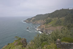 Oregon coast cliffs and the pacific ocean. Royalty Free Stock Photography