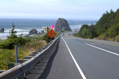 Oregon coast driving. Stock Photo