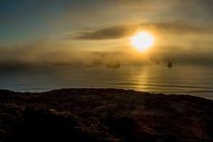 Oregon Coast Golden Sunset Stock Photography