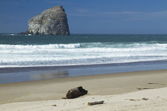 Oregon Coast Haystack Rock & Beach Royalty Free Stock Image