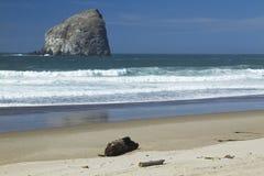 Oregon Coast Haystack Rock & Beach Royalty Free Stock Image