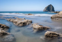 Oregon Coast Haystack Rock - Pacific City Oregon Stock Image