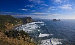 Oregon Coast Landscape. Pacific Ocean beach on sunny day, Oregon Coast Stock Photo