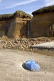Oregon coast Lincoln City beach erosion. Royalty Free Stock Photo